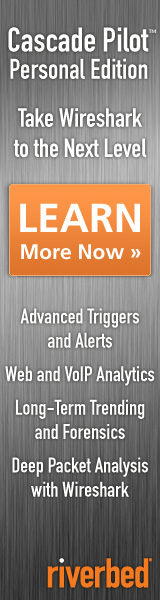 Riverbed Cascade Pilot Personal Edition: Take Wireshark to the Next Level - Advanced Triggers and Alerts; Web and VoIP Analytics; Long-Term Trending and Forensics; Deep Packet Analysis with Wireshark