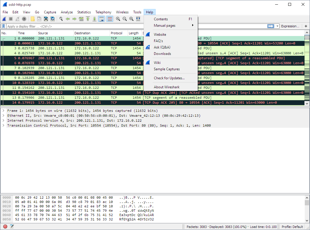 Wireshark Users Guide Tcp Graph Free Download Wiring Diagrams Pictures Ws Help Menu