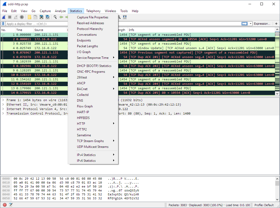 Wireshark (x32bit) screenshot