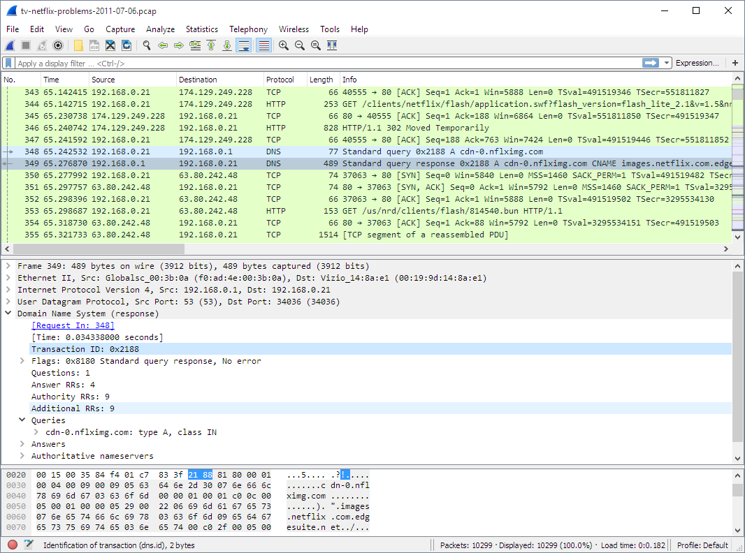 Screenshot: Wireshark